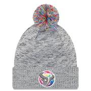 Houston Texans New Era 2020 NFL Crucial Catch Sport Pom Cuffed Knit Hat - Gray - OSFA