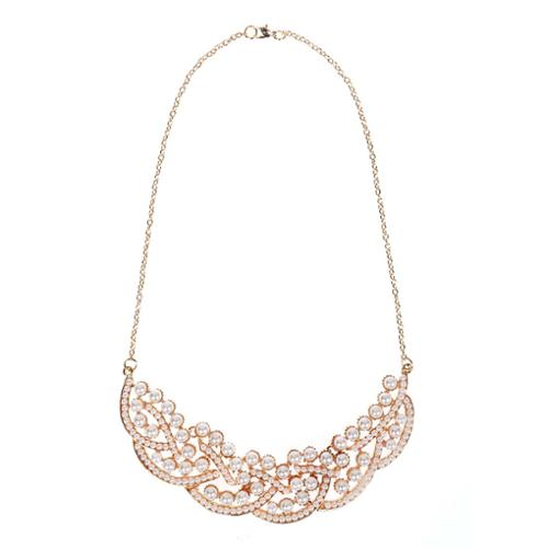 BMC Womens Metal Fashion Statement Bib Collar Necklace Collection - Style 4