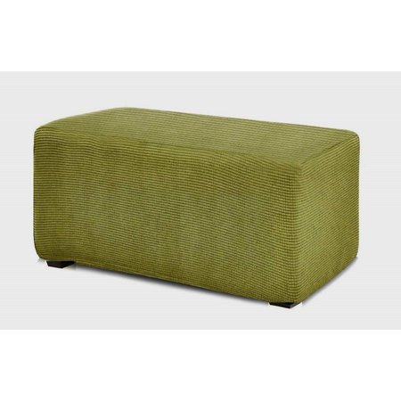 Surprising Orlys Dream Spandex Pique Stretch Fit Rectangle Storage Ottoman Furniture Cover Slipcover Sage Green Ocoug Best Dining Table And Chair Ideas Images Ocougorg
