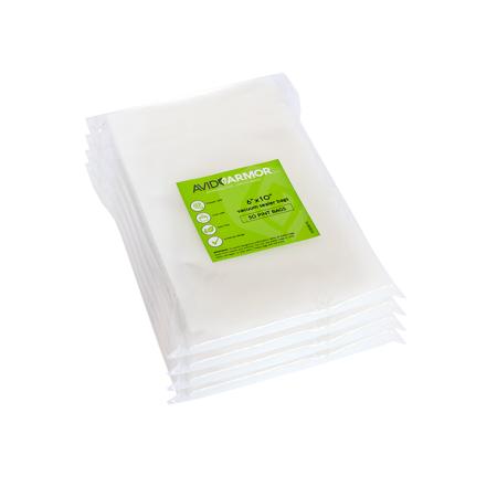 Foodsaver Pre Cut Bags (200 Pint Size 6x10 Pre-Cut Food Saver Small Vacuum Seal Bags Compatible with Major Brand Vacuum Sealers | Avid)