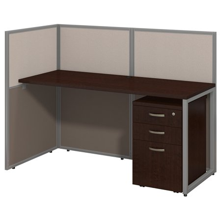 Decorate Work Cubicle For Halloween (EOD160SMR-03K Bush Business Furniture Cubicle Workstations & Walls 215 Lbs Weight Capacity Mocha Cherry 60 W Straight Desk Open Office With 3 Drawer Mobile)