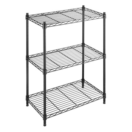 Whitmor Adjustable 3 Tier Shelving with Leveling Feet -