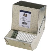 Pet Lodge AF5S Small Animal Feeder with Sifter Bottom, Steel