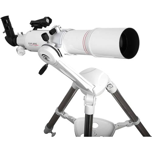 Explore Scientific FirstLight 80mm f/8 Refractor Telescope with Twilight Nano Alt/Az Mount, Fully Multi-Coated, White