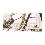 Nocona Western Wallet Womens Mossy Oak Crystals Pink Camo N7437930