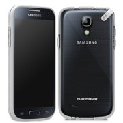 PureGear Slim Shell Case for Samsung Galaxy S4 Mini Clear w/ Gray Trim