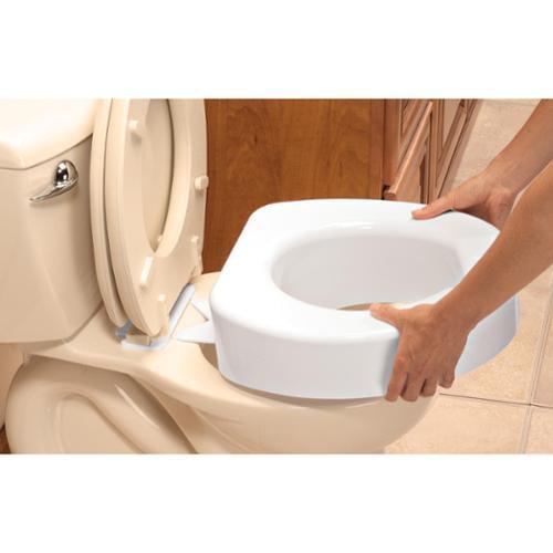Fantastic Details About Carex Toilet Seat Riser 4 Inch Quick Lock Raised Toilet Seat Short Links Chair Design For Home Short Linksinfo