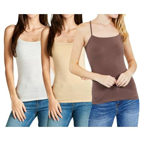 5264a04a7 TheLovely - Women s Cami Built-in Shelf Bra Adjstable Strap Camisole Tank  Top (Junior Sizes) - Walmart.com