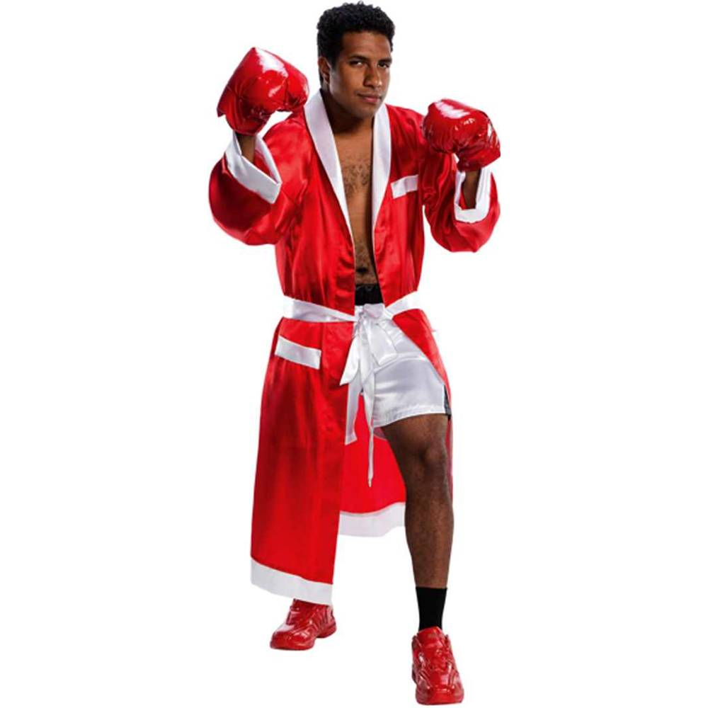 Boxing Champion Red Robe & Shorts Adult Costume
