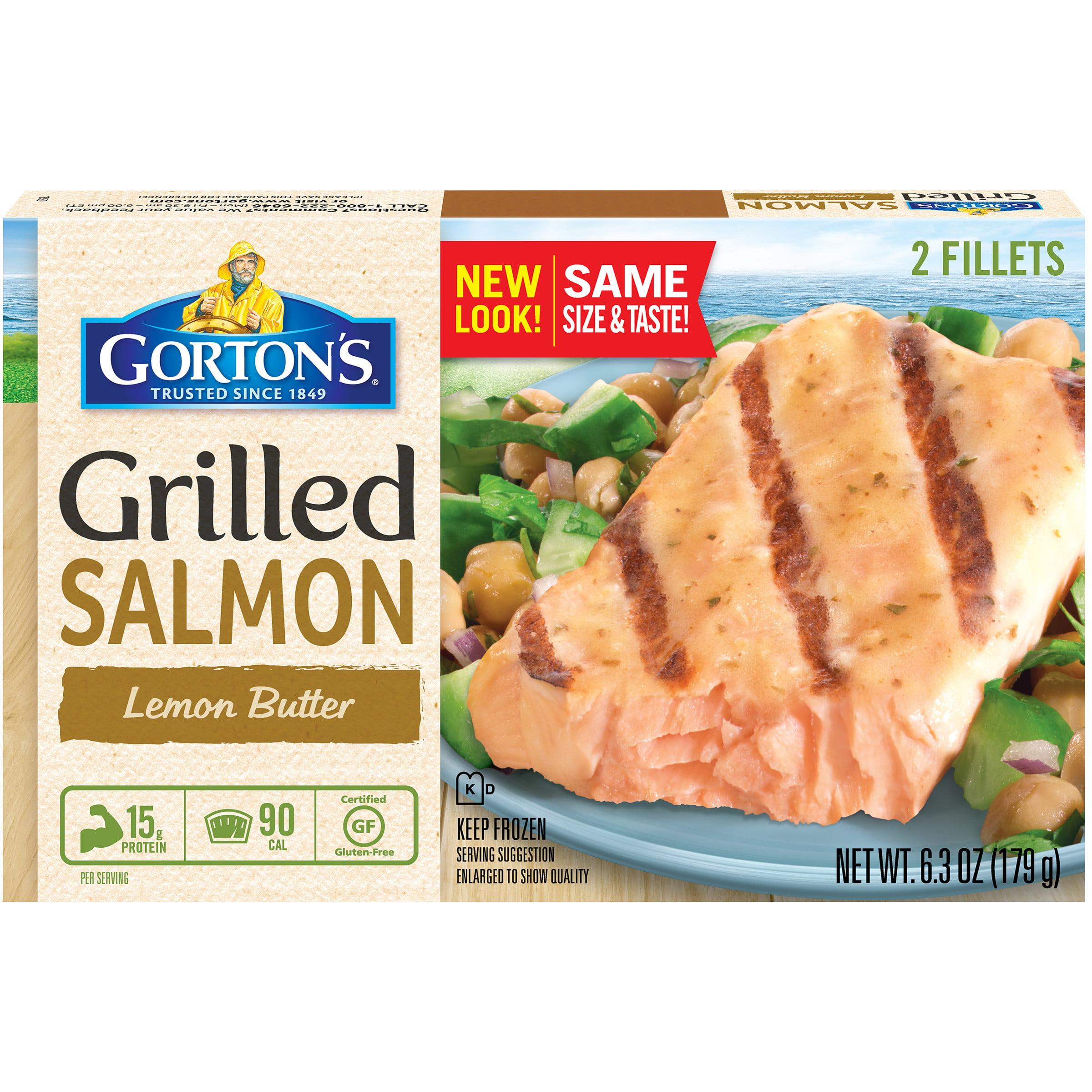 Gorton's Lemon Butter Grilled Salmon Fillets, 2 count