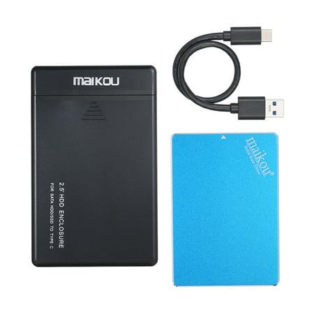 MAIKOU Mobile SSD 60G/120G/240G/360G/480G/1TB HDD Hard Drive Type-C&USB3.0 Universal Blue&240GB - image 5 de 7