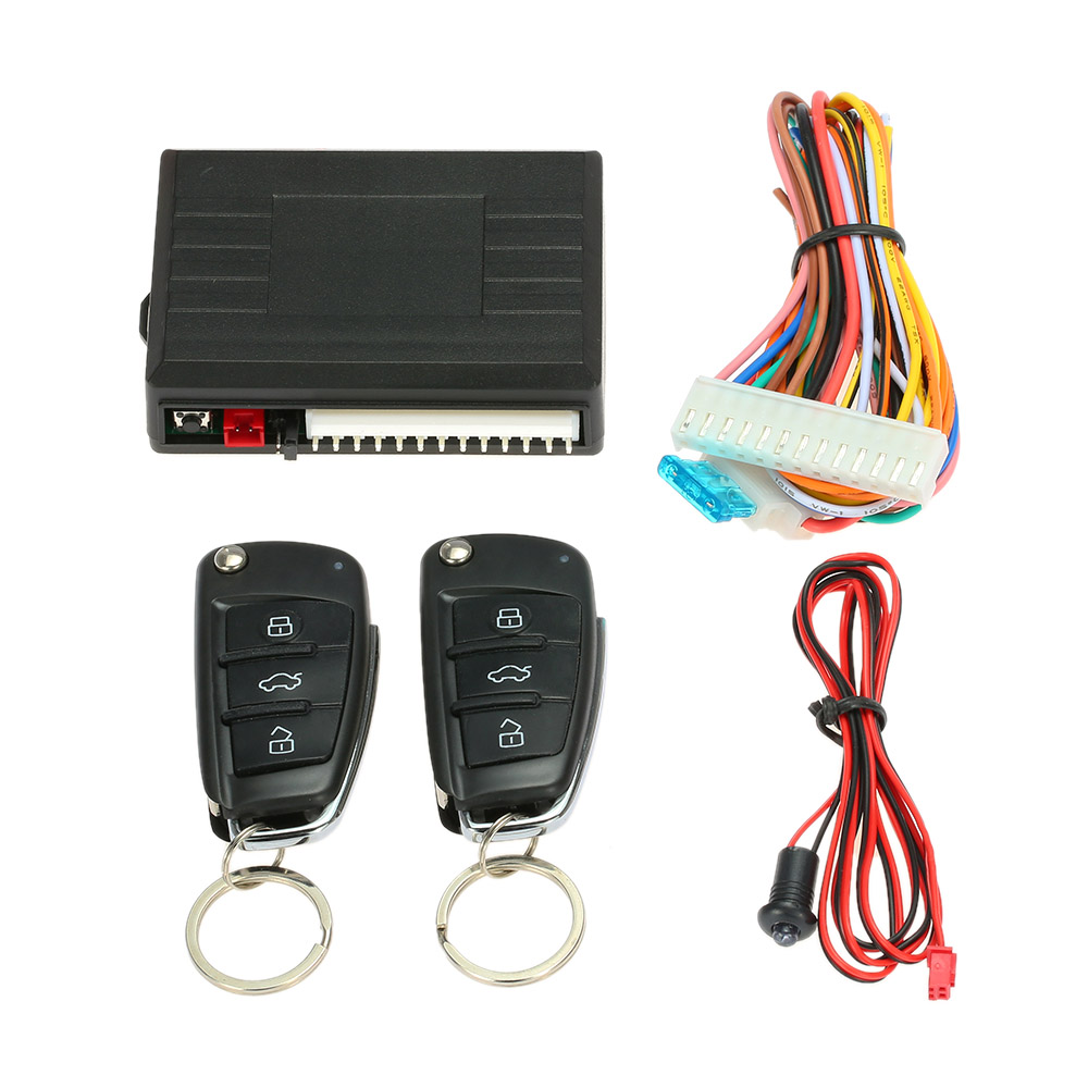 RuleaxAsi Universal Car Door Lock Keyless Entry with Trunk Release Button Remote Central Locking Kit