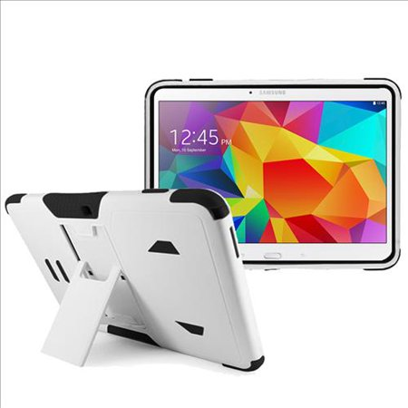 Samsung Galaxy Tab 4 10.1 / T530 Impact Silicone Case Dual Layer with Stand White
