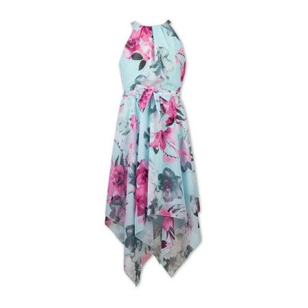 Speechless Girls 7-16 Halter Neck Hanky Hem Dressy Dress Speechless Halter Skirt
