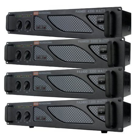 EMB Pro - PA2400 - Rack Mount Professional Power Amplifier - 1200W PA Band Club Pro Professional Rack
