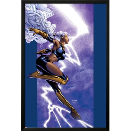 David Finch Cover - Ultimate X-Men No.42 Cover: Storm Lamina Framed Poster Wall Art  By David Finch - 26x38