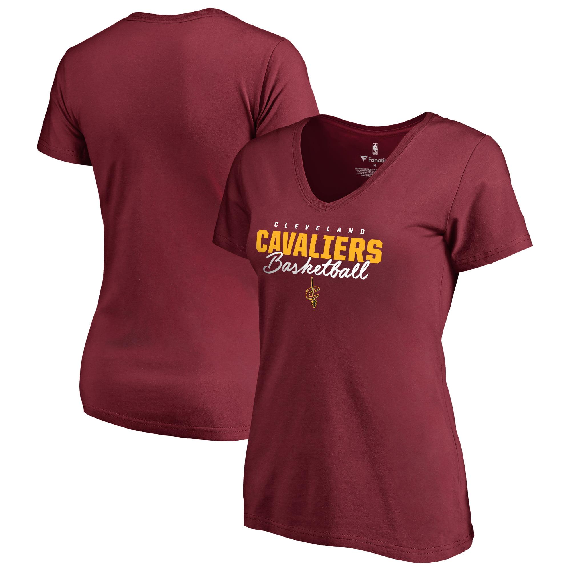 Cleveland Cavaliers Fanatics Branded Women's Script Assist Plus Size T-Shirt - Wine