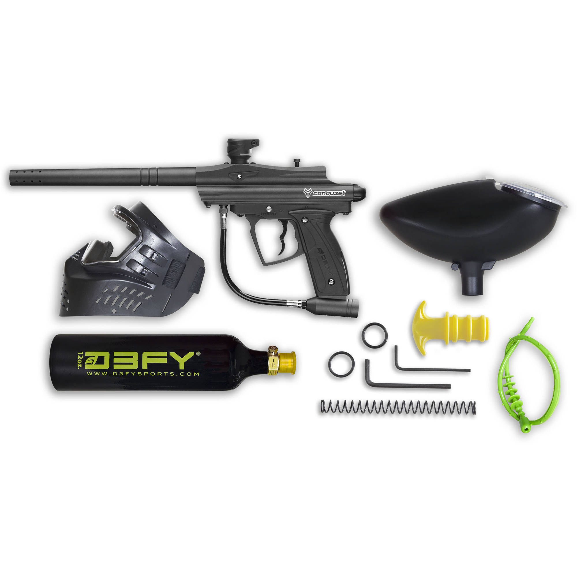 Conqu3st Semi-Auto Paintball Combo Pack