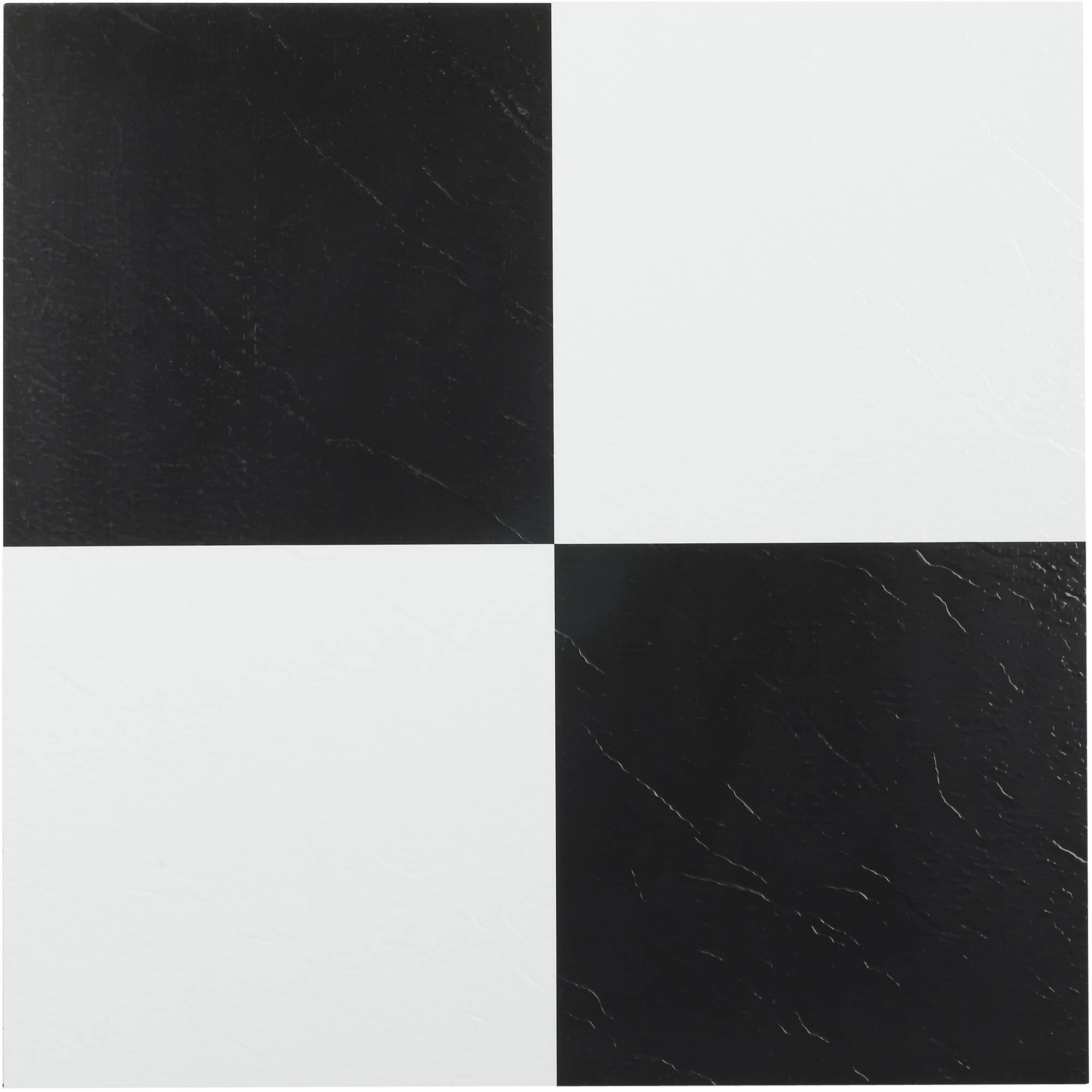 Black and white tiles tile design ideas for Black vinyl floor tiles