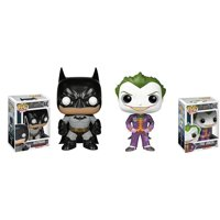 Arkham Asylum [ Batman (Gray Suit) and Joker (Purple) ] Funko Pop Vinyl Figure Toy Figurine (Deluxe Collector Set) DC Comics Classic Cartoon Merchandise Superhero Collectible