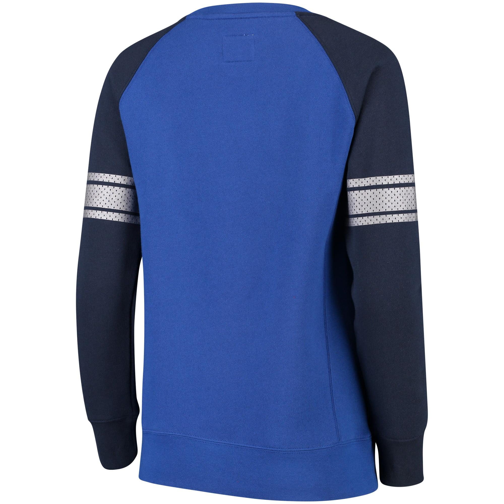 332f6f175 Dallas Mavericks Fanatics Branded Women's Iconic Pullover Sweatshirt - Royal /Navy - Walmart.com