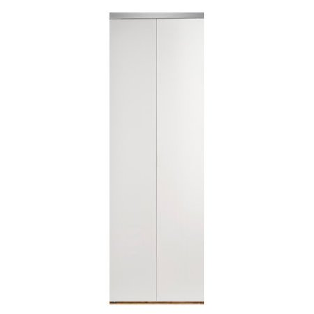 - Custom Door and Mirror Flush Manufactured Wood Primed Bi-Fold Door