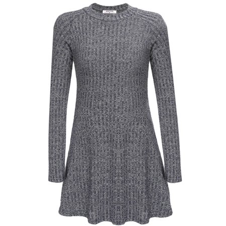 Sleeve Knit Sweater Dress - Women Knit Sweater Long Sleeve Slim r Mini Elastic Dress BYE