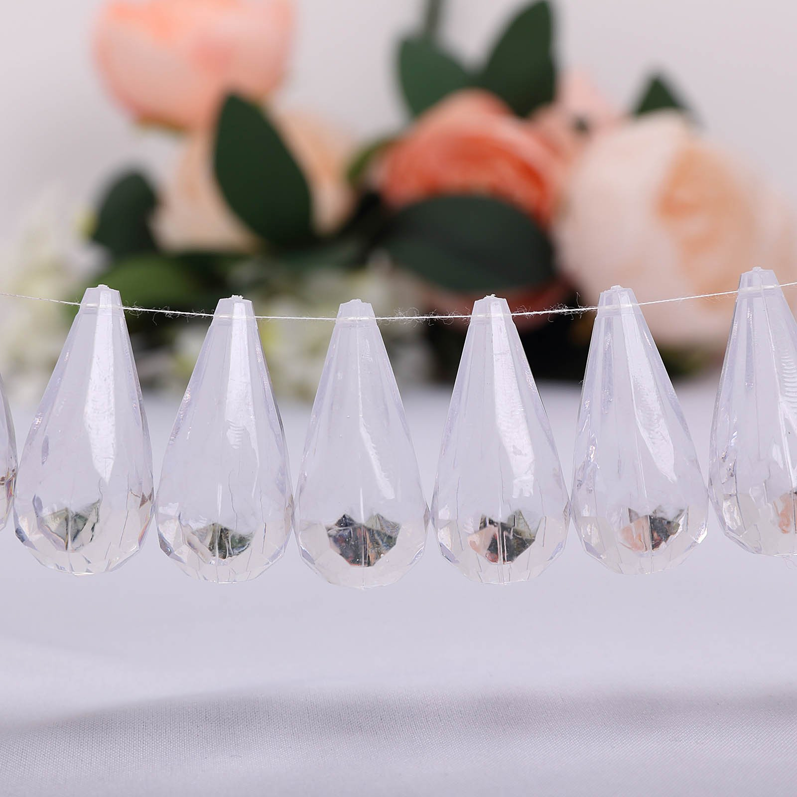 Efavormart Angel's Tears 50 pcs Acrylic Diamond Clear