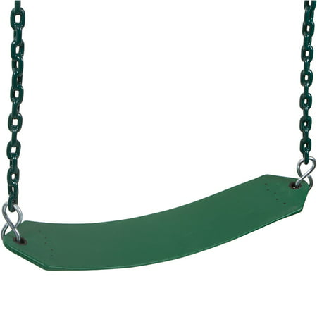 Residential Seat - Swing Set Stuff Inc. Residential Belt Seat with 5.5 Ft. Coated Chain (Green)