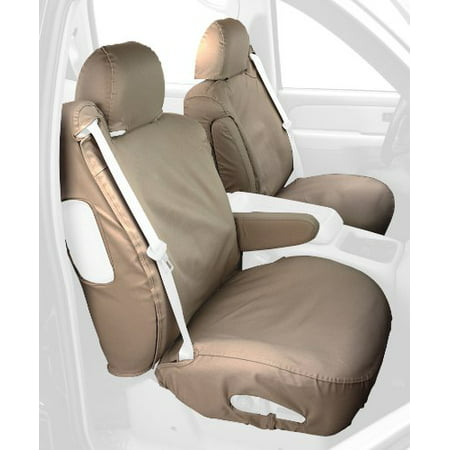 Covercraft Custom-Fit Front Bucket SeatSaver Seat Covers - Polycotton Fabric, Taupe