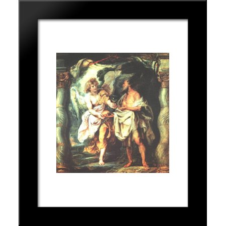The Prophet Elijah Receiving Bread and Water from an Angel 20x24 Framed Art Print by Peter Paul (Receiving Water)