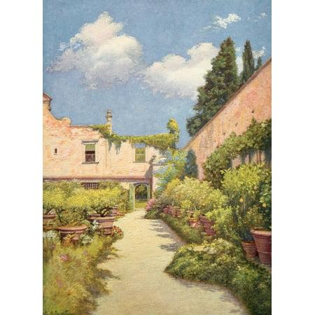 Villas of Florence and Tuscany 1922 Cigliano San Casciano V Stretched Canvas - Edward Stratton Holloway (18 x 24) (18 Tuscany Appliance)