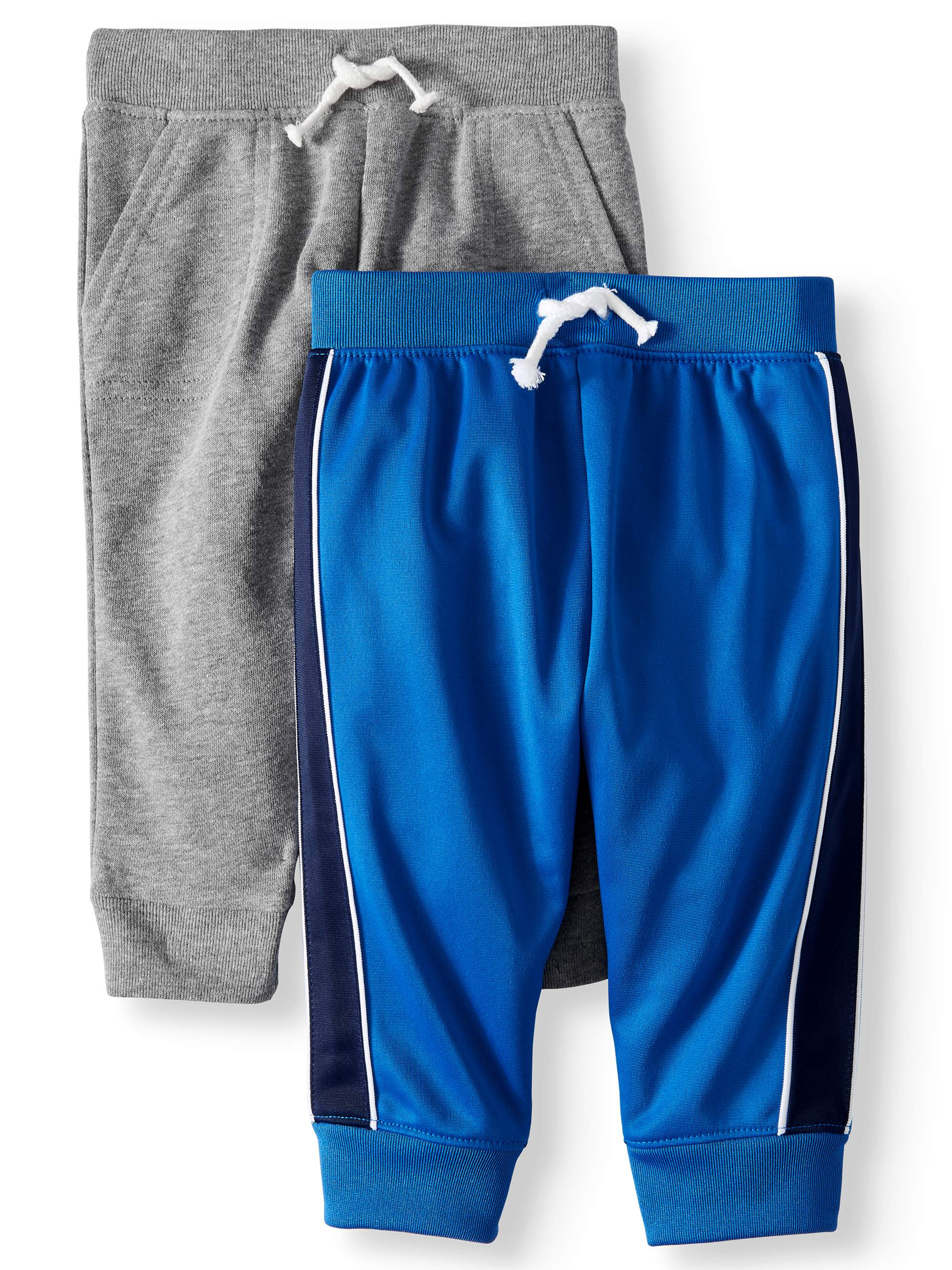 Garanimals French Terry Jogger Pants & Tricot Taped Jogger Pants, 2-pack (Baby Boys)