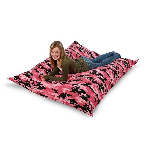 big joe bean bag pink camouflage walmart