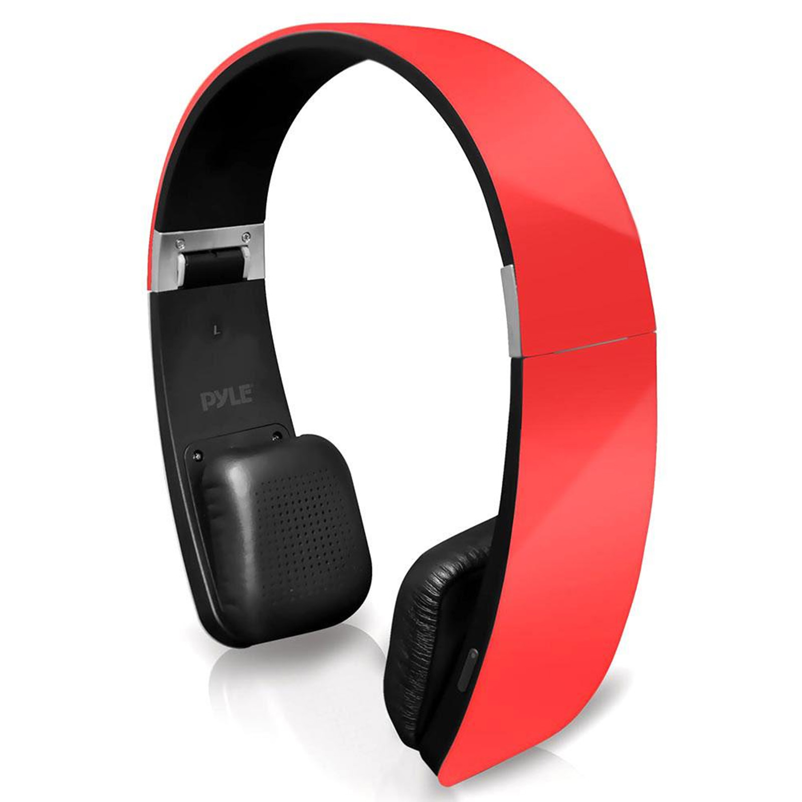 Pyle Sound 6 BT 2-in-1 Stereo Headphones with Built-in Mic for Call Answering and Easy-Touch Controls - Red Color