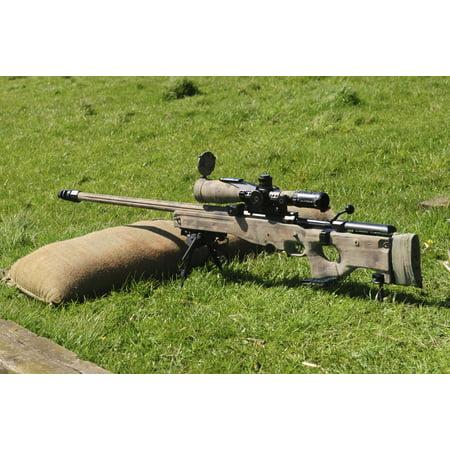 A British Army Arctic Warfare Magnum L115A3 sniper rifle Canvas Art - Andrew ChittockStocktrek Images (17 x