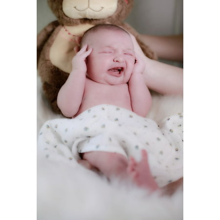 Canvas Print Young Child Baby Cry Child Small Child Boy Birth Stretched Canvas 10 x 14 ()