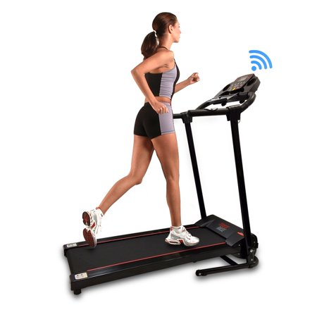 SereneLife SLFTRD18 - Track Base Smart Treadmill with Downloadable App