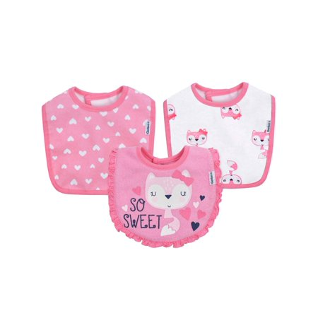 Gerber Assorted Terry Dribbler Bibs Set, 3pk (Baby (Fabric Baby Bib)