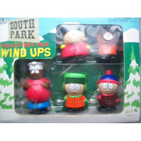 1998 STAN KYLE KENNY CARTMAN CHEF Wind-Up Walkers Set, South Park STAN KYLE KENNY CARTMAN CHEF Wind-Up Walkers Set. By South Park From USA