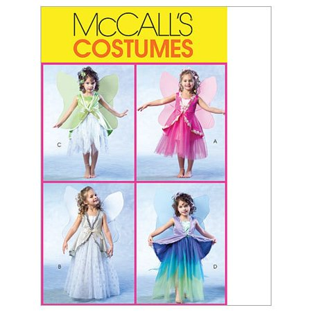 McCall's Children's and Girls' Fairy Costumes, CL (6, 7, 8) - Children's Halloween Costume Patterns