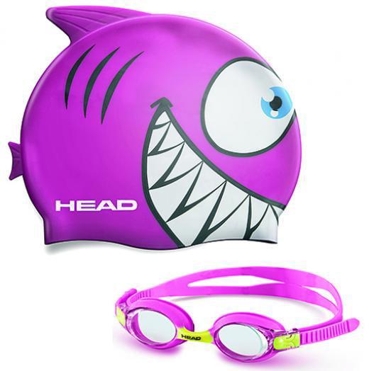 Kid's Swim Cap and Goggle Set by Head