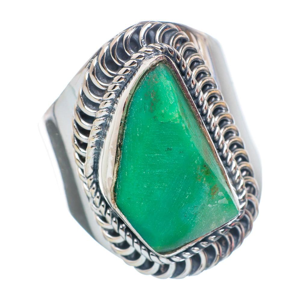 Ana Silver Co Rough Chrysoprase Ring Size 8 (925 Sterling Silver) Handmade Jewelry RING899309 by Ana Silver Co.