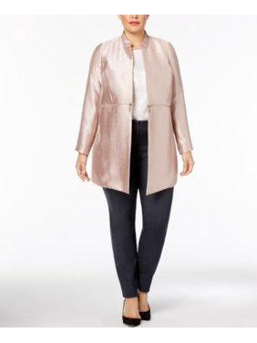 a3b2eba69f06 Product Image Alfani Plus Size Metallic Jacket Modern Rose 16W
