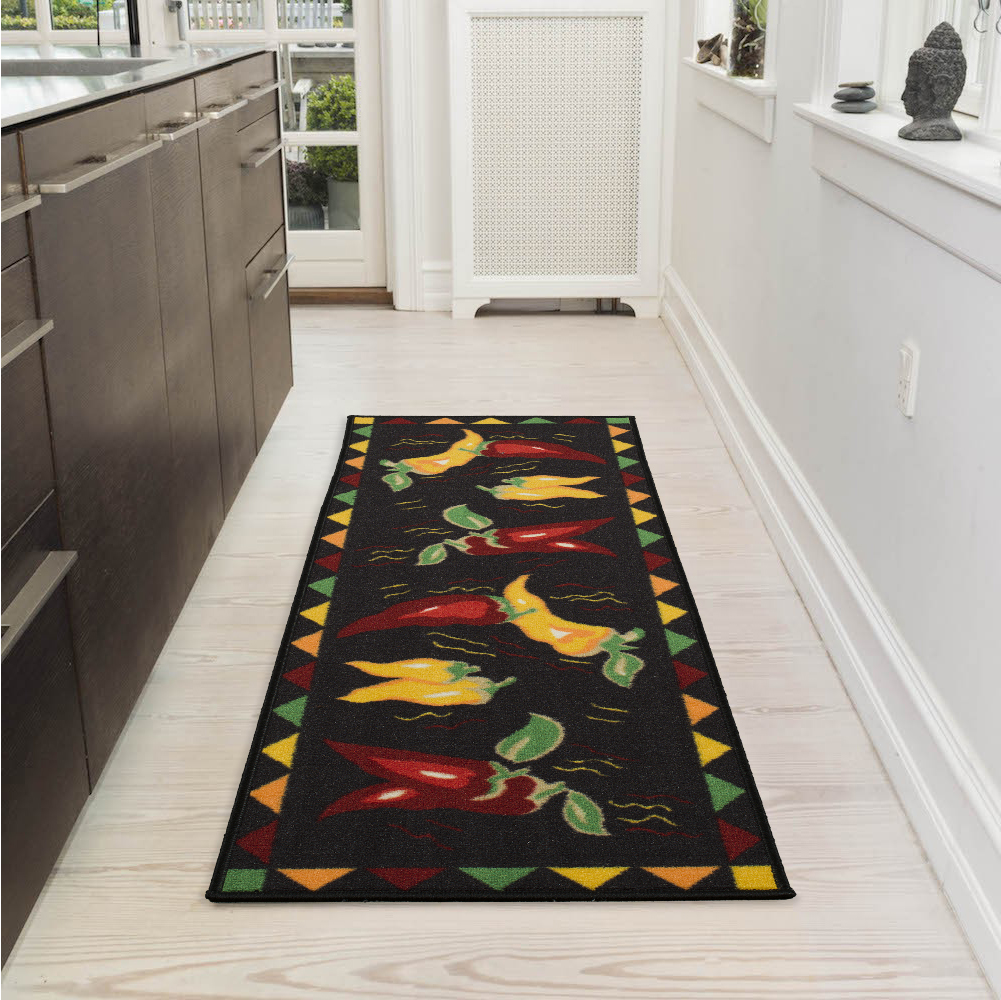 Ottomanson Siesta Collection Kitchen Hot Peppers Design