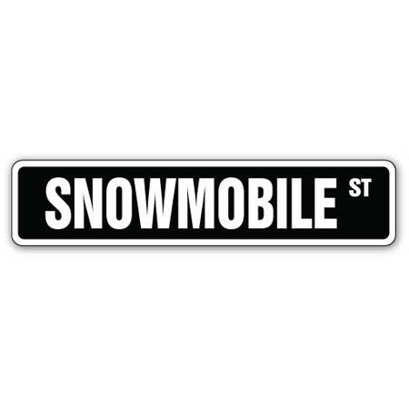 SNOWMOBILE Street Sign snowmobiling sled skimobile snow mobile | Indoor/Outdoor | 24