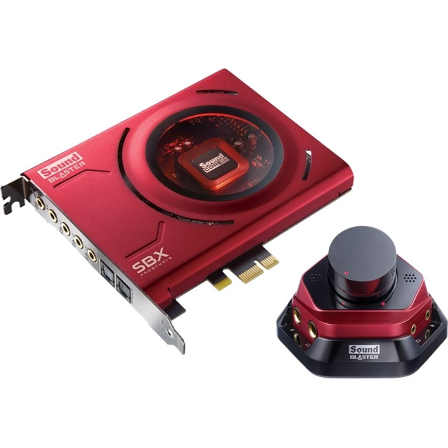 Sound Blaster Zx PCIe Sound Card - 24 bit DAC Data Width - 5.1 Sound Channels - Internal - Creative - PCI Express x1 - 116 dB, 105 dB, 105 dB - 1 x Number of Headphone Ports