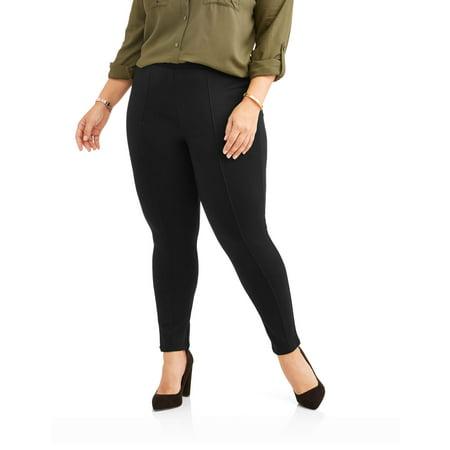 e9834a22aae12 Faded Glory - Women's Plus Ponte Legging - Walmart.com