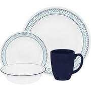 Corelle Livingware Folk Stitch 16-Piece Dinnerware Set