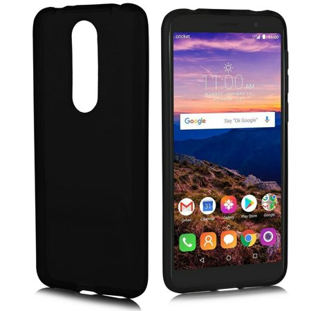 "for 5.5"" Alcatel ONYX Premium Clear Crystal Skin Designed Flexible Soft Protective Impact Resistant Extra Hybrid Slim Thin Lightweight Rubber Shockproof Bumper Rubber Phone Case Black"